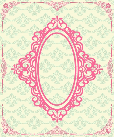 Vintage lace ornaments on background   photo