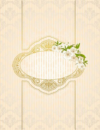 Vintage background with flowers and ornaments photo