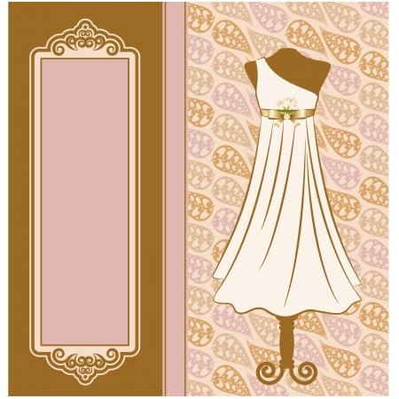 Robe vintage avec des ornements de dentelle