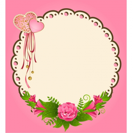 Vintage background with flowers and ornaments Vector