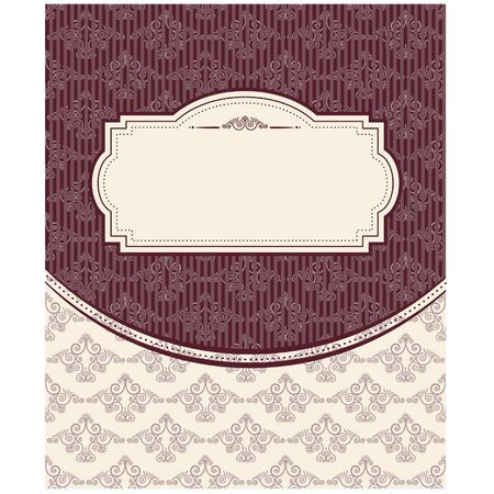 Vintage background with lace ornaments  Vector