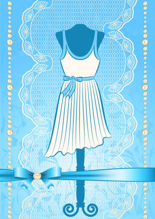 Vintage dress with lace ornaments Stock Photo - 14907807