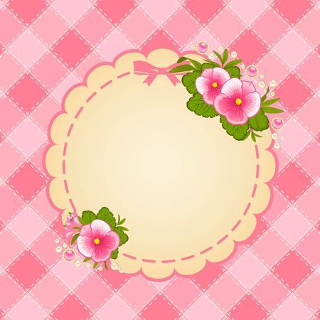 Vintage background with flowers and ornaments Stock Photo - 15077822