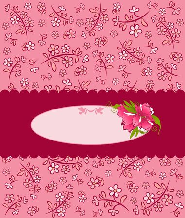 Vintage background with flowers and ornaments Stock Photo - 15077829