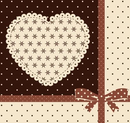 Vintage Hintergrund mit Ornamenten und Herzen