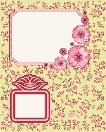 Vintage background with flowers and ornaments Stock Photo - 15077830