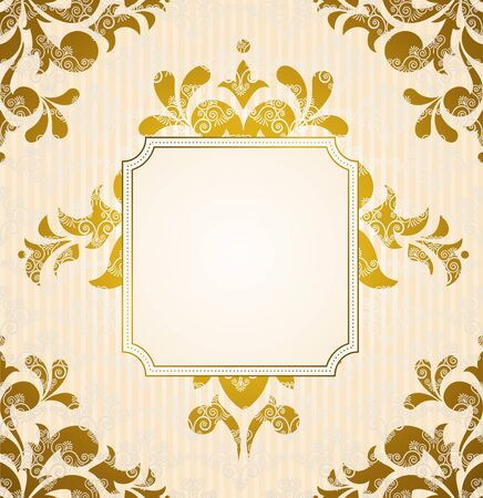 Vintage background with flowers and ornaments Stock Photo - 15077828