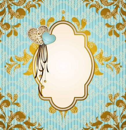 Vintage background with flowers and ornaments  Stock Photo - 16966724