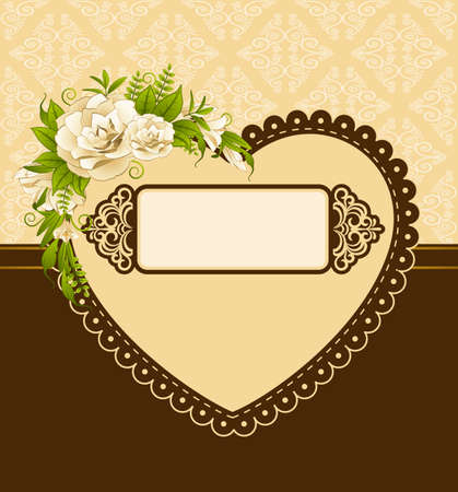 Vintage background with flowers and ornaments Stock Photo - 16966726