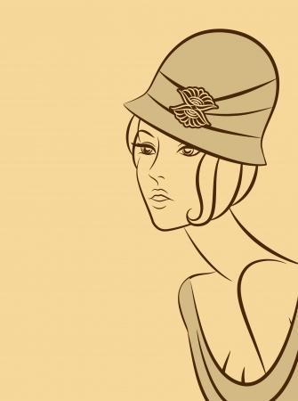 Vintage fashion woman Stock Photo - 16848671