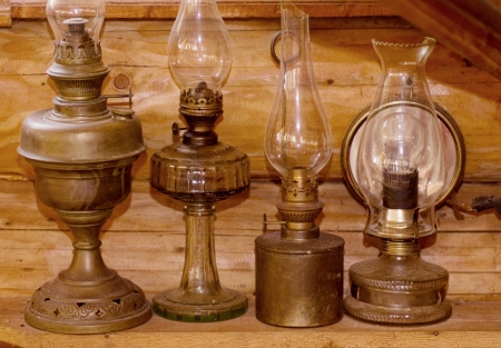 Old light kerosene lanterns photo