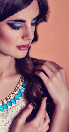 Fashion woman with jewelry precious decorations  photo