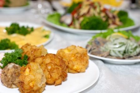 balls deep: Deep fried cheese balls on the plate