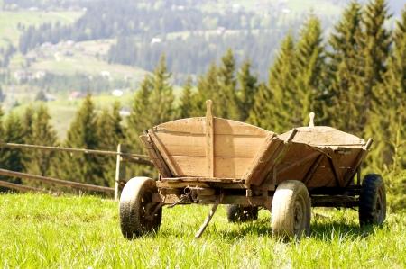 古い木製の馬が引くキャリッジ