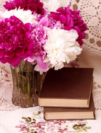 春中間子とビンテージの本