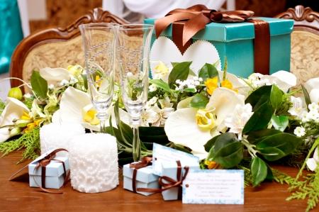 美しい結婚式のアクセサリー 写真素材