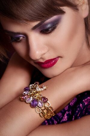 Fashion woman with jewelry precious decorations  Stock Photo - 23260036