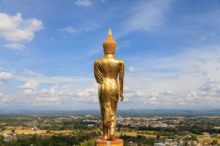 buddha image at  Wat Phra That Kao Noi  Nan Province Thailand Stock Photo