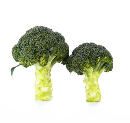 Fresh Broccoli Cabbage isolated on white background Stock Photo