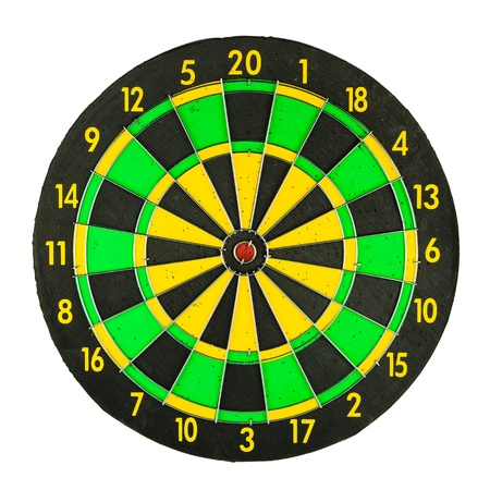 Corlorful dartboard isolated on the white background