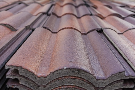 Red and brown tile or shingle for home building