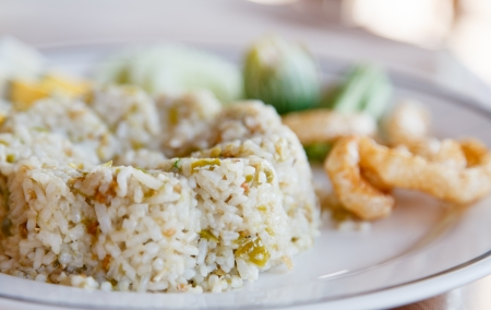 nam-prick-num fried rice,food in northen of Thailand