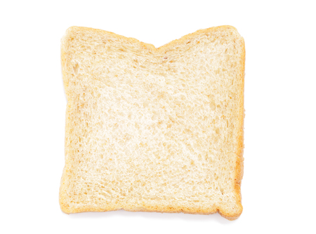 single Sliced bread isolated on white
