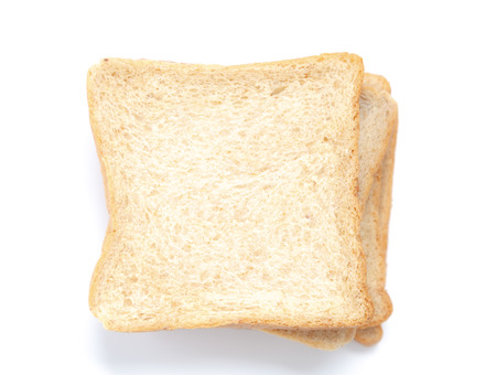 Sliced bread isolated on white  Stock Photo