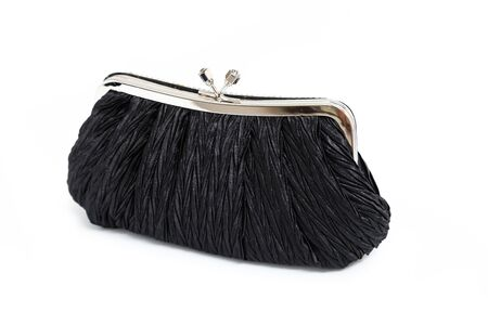 Luxury black clutch  Bag isolated on white