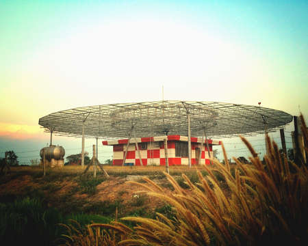 VOR station located in th airfield