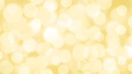 Abstract yellow background with Circle bokeh. Light blurred of light glitter. Glow texture background.