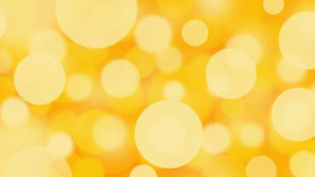 Abstract orange and yellow background with Circle bokeh. Light blurred of light glitter. Glow texture background