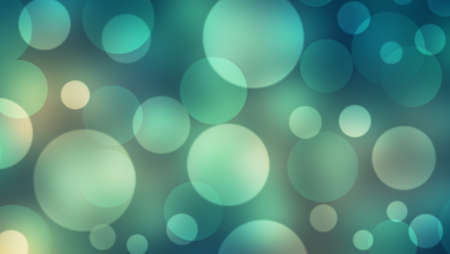 Abstract emerald green and blue background with Circle bokeh. Light blurred of light glitter. Glow texture background