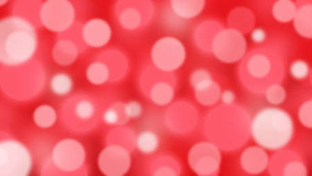 Abstract red background with Circle bokeh. Light blurred of light glitter. Glow texture background