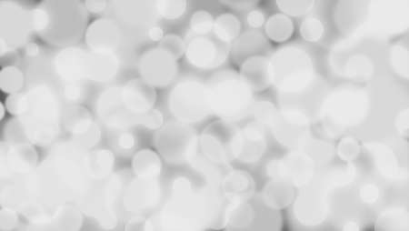 Abstract gray background with Circle bokeh. Light blurred of light glitter. Glow texture background Stock Photo