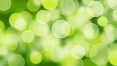 Abstract green background with Circle bokeh. Light blurred of light glitter. Glow texture background.