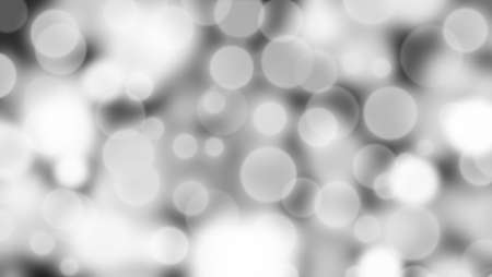 Abstract white and black background with Circle bokeh. Light blurred of light glitter. Glow texture background