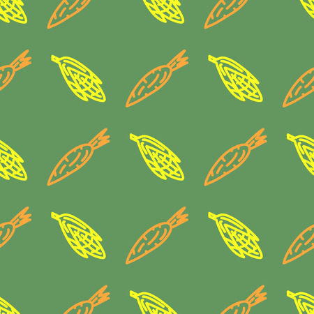 garden peas: Assorted vegetable vector seamless pattern with carrot and corn eps 10 Illustration