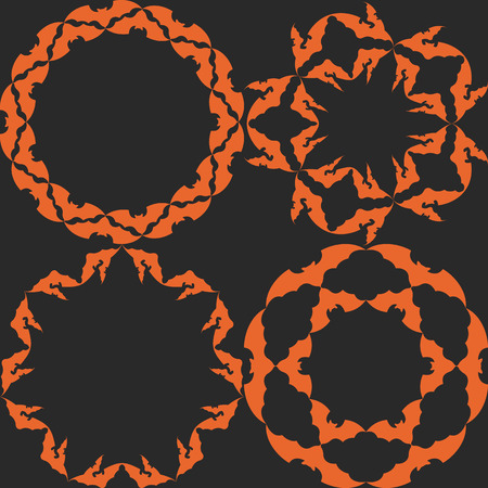 Halloween abstract background with black spiders eps 10