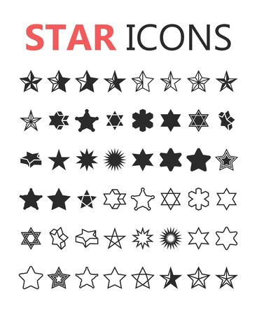 top class: Simple modern set of star icons. Premium symbol collection. Vector illustration. Eps 10 Stock Photo