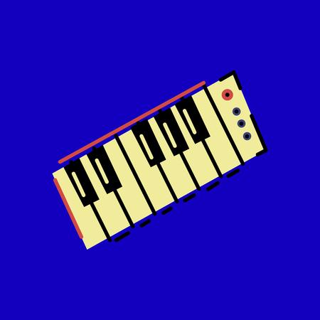 Piano colored illustration