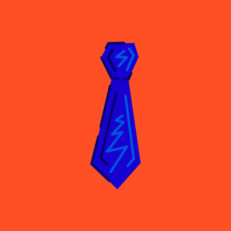 Tie icon. Vector colored illustration.