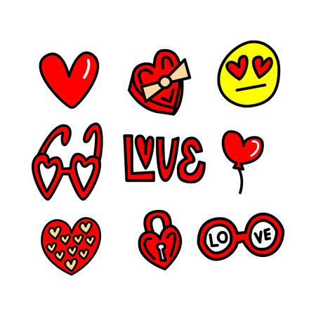 Love set vector elements, icons.