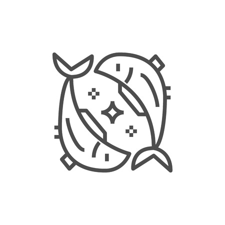 Simple astrology icon. Premium horoscope symbol.Zodiac vector illustrations. Line fish sign.