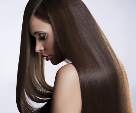 long straight hair: Beautiful Woman with Healthy Long Hair
