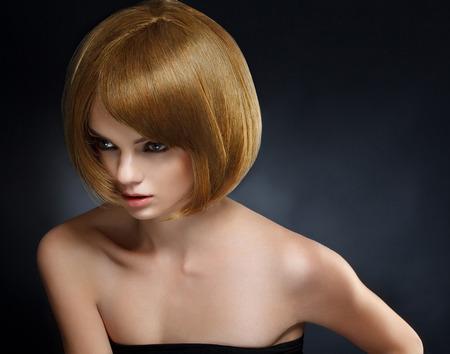 hair colour: Beautiful Woman with Short Hair