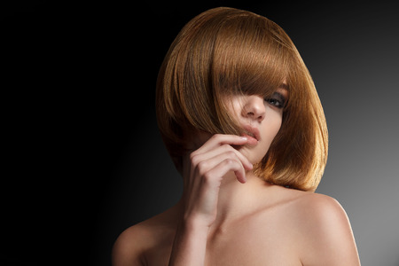 hair style: Beautiful Woman with Bob hairstyle