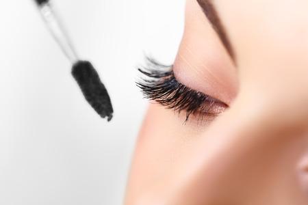 Woman eye with beautiful makeup and long eyelashes