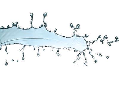 purity: blue water splash isolated on white background Stock Photo
