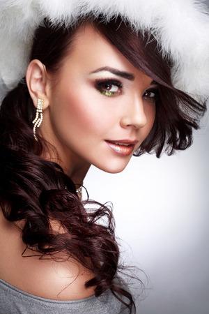 ojos hermosos: Retrato de mujer con hermosos ojos